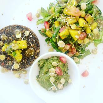Raw Burger based on seeds and sprouts